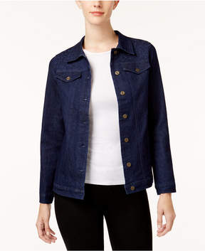 Alfred Dunner Gypsy Moon Embroidered Denim Jacket
