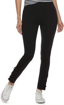 Mudd Junior's Lace Up Ankle Leggings