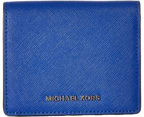 MICHAEL Michael Kors Jet Set Travel Carryall Card Case Credit card Wallet - ELECTRIC BLUE - STYLE