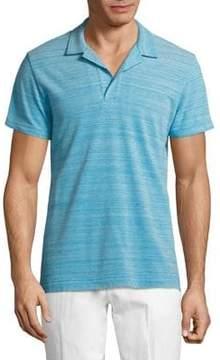 Orlebar Brown Simple Stripes Cotton Polo Shirt