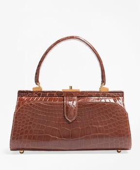 Brooks Brothers Glazed Alligator Frame Bag