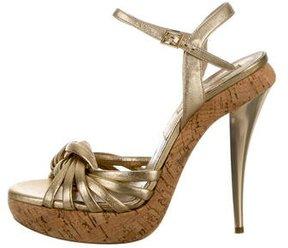 Michael Kors Leather d'Orsay Sandals