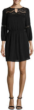 As U Wish 3/4 Sleeve Skater Dress-Juniors