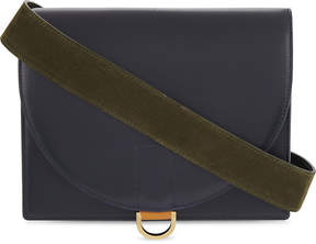 Sacai Branded leather cross-body bag