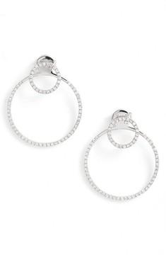 Ef Collection Women's Diamond Halo Ear Jackets