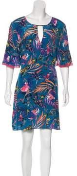 Matthew Williamson Floral Print Mini Dress