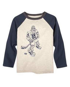 Andy & Evan Big Foot Hockey Player T-Shirt, Size 2-7