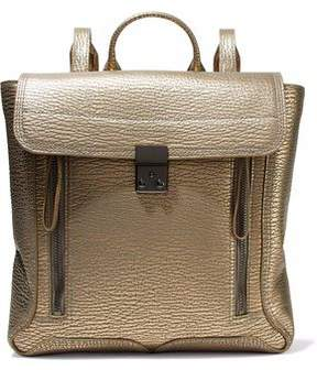 3.1 Phillip Lim Pashli Metallic Textured-Leather Backpack