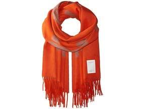 Orange Classic Wool Graphic Scarf