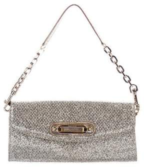 Jimmy Choo Chain-Link Glitter Shoulder Bag