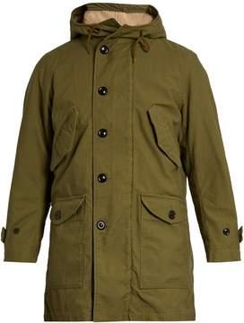 SAINT LAURENT M51 hooded cotton-blend parka