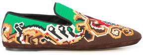 Loewe embroidered slippers