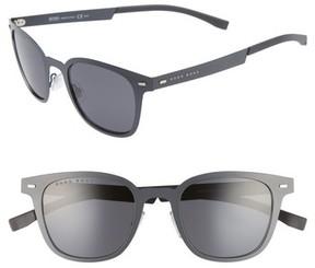 BOSS Men's 50Mm Sunglasses - Matte Gray/ Gray Blue