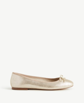 Ann Taylor Matilde Metallic Leather Ballet Flats