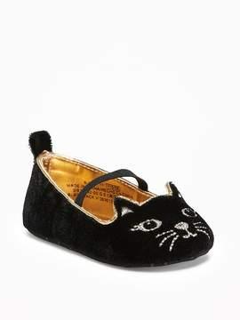 Old Navy Velvet Kitty Ballet Flats for Baby