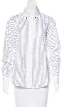 Tod's Striped Long Sleeve Top