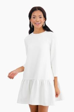 Edit White Sutton Peplum Dress