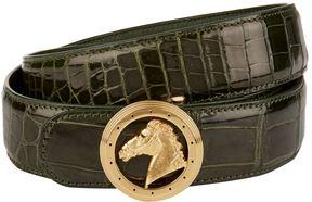 Stefano Ricci Horse Crocodile Skin Belt
