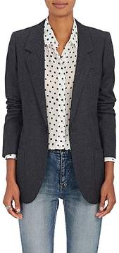 Saint Laurent Women's Wool Twill One-Button Blazer