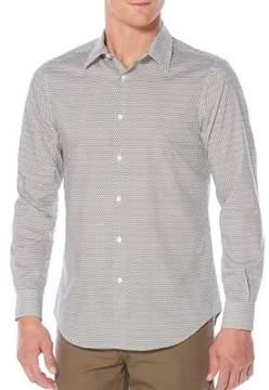 Perry Ellis Diamond Casual Button-Down Shirt