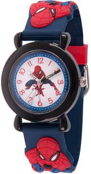 Marvel Spiderman Boys Blue Strap Watch-Wma000162