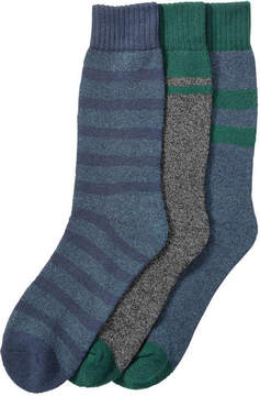 Joe Fresh Men's 3 Pack Marled Socks, JF Midnight Blue (Size 10-13)
