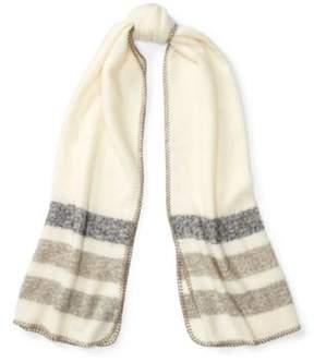 Ralph Lauren Oversize Striped Scarf Cream/Grey Stripes One Size