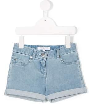 Givenchy Kids turn-up denim shorts