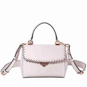 Michael Kors Ava Extra-Small Scalloped Leather Crossbody- Soft Pink