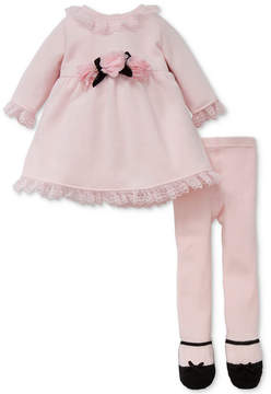 Little Me 2-Pc. Sweater Dress & Footed Tights Set, Baby Girls (0-24 Months)