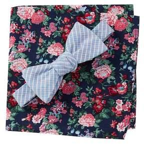 Original Penguin Morea Bow Tie & Pocket Square Set