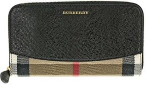 Burberry House Check Sartorial Leather Wallet - Black - BLACK GLD HRDWRE - STYLE