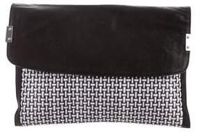 Stuart Weitzman Leather Envelope Clutch