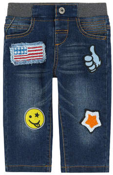 3 Pommes Boy regular fit jeans with fancy patches
