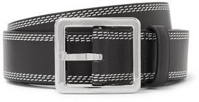 Loewe 3cm Black Leather Belt