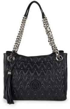 Mario Valentino Luisa Studded Leather Shoulder Bag