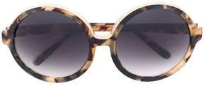 No.21 oversized round frame sunglasses
