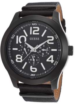 GUESS Men's Gents Black Nylon and Dial