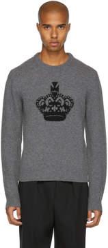 Dolce & Gabbana Grey Crown Crewneck Sweater