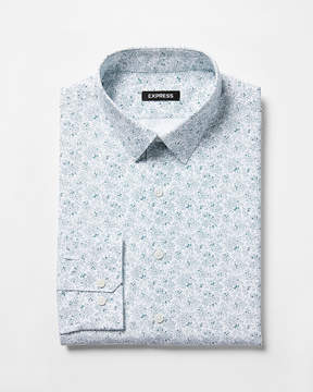 Express Slim Fit Floral Print Dress Shirt