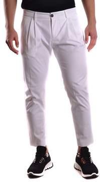 Les Hommes Men's White Cotton Pants.