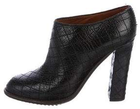 Lanvin Quilted Leather Ankle Booties
