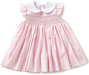 Edgehill Collection Baby Girls 3-24 Months Smocked Flutter-Sleeve Dress