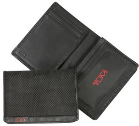 Tumi Men's 'Alpha' Id Lock(TM) Gusseted Card Case - Black