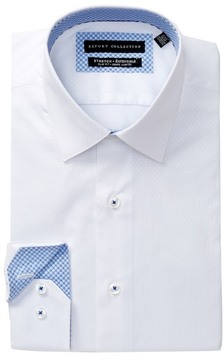 Report Collection Textured Slim Fit Dress Shirt
