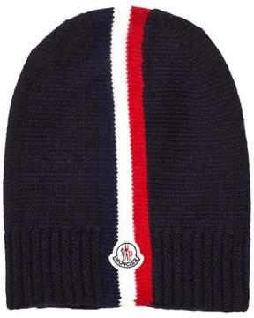 Moncler Navy Stripe Beanie