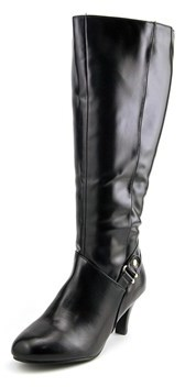 Karen Scott Harloww Wide Calf Women Round Toe Synthetic Black Knee High Boot.