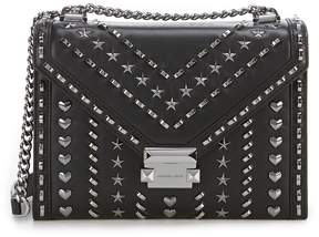 MICHAEL Michael Kors Star And Heart Studded Whitney Large Shoulder Bag