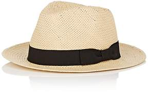 Barneys New York MEN'S POTENZA STRAW FEDORA