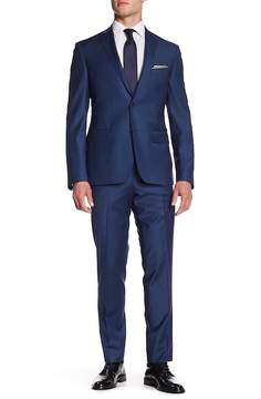 Nordstrom Wool Solid Trim Suit
